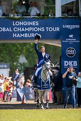 DEUSSER Daniel (GER), Jasmien v. Bisschop<br /> Hamburg - 90. Deutsches Spring- und Dressur Derby 2019<br /> LONGINES GLOBAL CHAMPIONS TOUR Grand Prix of Hamburg<br /> CSI5* Springprüfung mit Stechen <br /> Wertungsprüfung für die LGCT, 6. Etappe<br /> 01. Juni 2019<br /> © www.sportfotos-lafrentz.de/Stefan Lafrentz