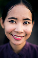 A portrait of a young worker at the Six Senses Resort in Koh Samui, Thailand.