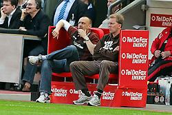 10.04.2011,  BayArena, Leverkusen, GER, 1. FBL, Bayer Leverkusen vs FC St. Pauli, 29. Spieltag, im Bild: Holger Stanislawski (Trainer St. Pauli) (L) und Andre Trulsen (Co-Trainer St. Pauli) (R)  EXPA Pictures © 2011, PhotoCredit: EXPA/ nph/  Mueller       ****** out of GER / SWE / CRO  / BEL ******