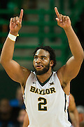 WACO, TX - JANUARY 7: Rico Gathers #2 of the Baylor Bears celebrates after an offensive possession against the Kansas Jayhawks on January 7, 2015 at the Ferrell Center in Waco, Texas.  (Photo by Cooper Neill/Getty Images) *** Local Caption *** Rico Gathers