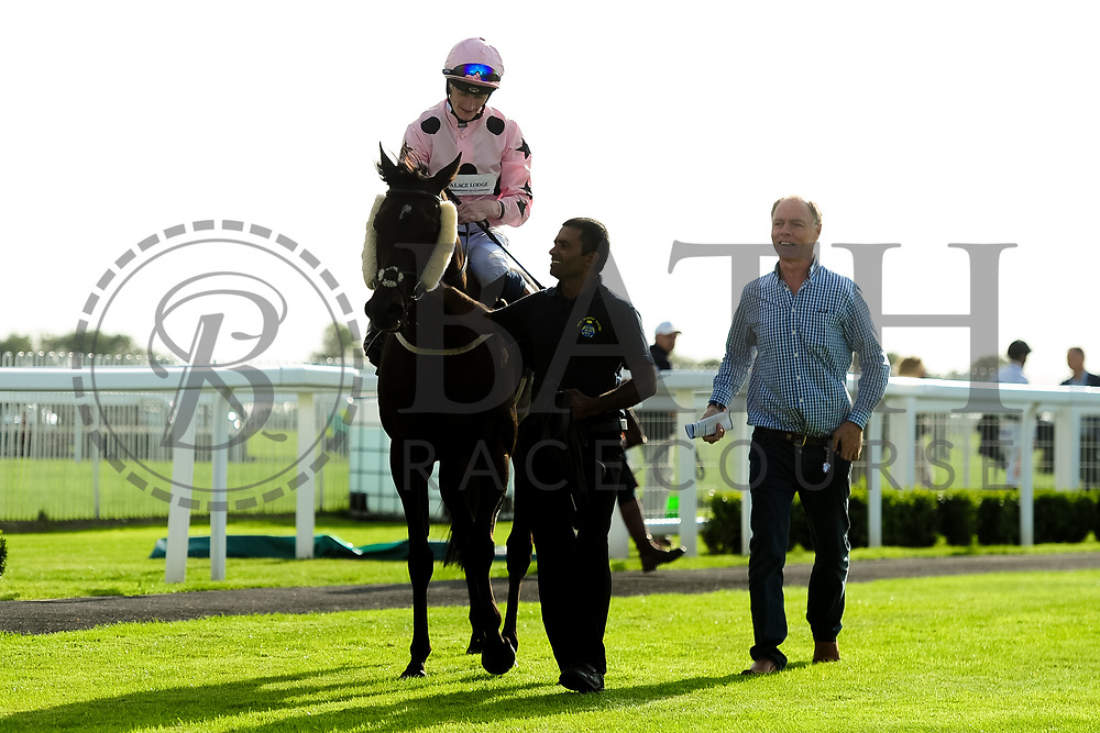 Kellington Kitty ridden by Daniel Muscutt and trained by Mike Murphy in the Kingstone Press Apple Maiden Handicap (Class 6) race.  - Ryan Hiscott/JMP - 17/08/2019 - PR - Bath Racecourse - Bath, England - Race Meeting at Bath Racecourse
