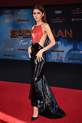 """Zendaya attends the Premiere of Sony Pictures' """"Spider-Man Far From Home"""" at TCL Chinese Theatre on June 26, 2019 in Los Angeles, CA, USA. Photo by Lionel Hahn/ABACAPRESS.COM"""