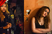 05 FEBRUARY 2005 - NOGALES, SONORA, MEXICO: Workers in an adult entertainment bar in Nogales, Sonora, Mexico, wait for police to finish checking ID cards during a sweep to crackdown on drug dealers and gang members.  PHOTO BY JACK KURTZ