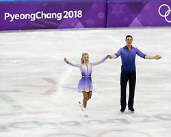 February 15, 2018 - Pyeongchang, KOREA - Aljona Savchenko and Bruno Massot of Germany after  competing in pairs free skating during the Pyeongchang 2018 Olympic Winter Games at Gangneung Ice Arena. (Credit Image: © David McIntyre via ZUMA Wire)