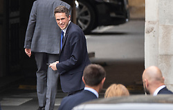 © Licensed to London News Pictures. 01/05/2019. London, UK. Defence Secretary Gavin Williamson looks for his police close protection team in New Palace Yard at Parliament before it was announced that he has been sacked in connection with the leaking of information from the National Security Council meeting discussing Huawei's limited access to help build the UK's new 5G network. Photo credit: Peter Macdiarmid/LNP