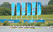 Eton Dorney, Windsor, Great Britain,..2012 London Olympic Regatta, Dorney Lake. Eton Rowing Centre, Berkshire[ Rowing]...Description;   GBR W8+,  Women's Eights Repechage, leaving the start. Crew Olivia WHITLAM, Louisa REEVE, Jessica EDDIE, Lindsey MAGUIRE, Natasha PAGE, Anaabell VERNON, Katie GREVES, Victoria THORNLEY and Cox Caroline O'CONER. Dorney Lake. 10:53:45  Tuesday  31/07/2012 [Mandatory Credit: Peter Spurrier/Intersport Images]  .