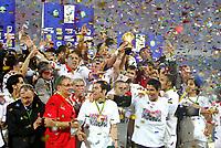 Fotball<br /> Afrika mesterskapet<br /> Foto: DPPI/Digitalsport<br /> NORWAY ONLY<br /> <br /> FOOTBALL - AFRICAN CUP OF NATIONS 2008 - FINAL - 10/02/2008 - EGYPT v CAMEROON - CELEBRATION EGYPT AFTER WINNING THE AFRICAN CUP OF NATIONS TROPHY<br /> <br /> Egypt v Kamerun