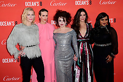Cate Blanchett, Sarah Paulson, Helena Bonham Carter, Sandra Bullock and Mindy Kaling attending the European premiere of Oceans 8, held at the Cineworld in Leicester Square, London. Picture date: Wednesday 13th June, 2018. See PA story SHOWBIZ Oceans8. Photo credit should read: Ian West/PA Wire