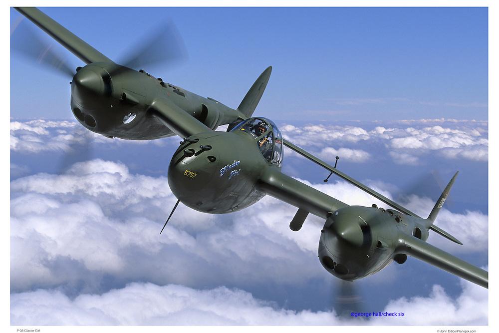 P-38 Glacier Girl, aerial