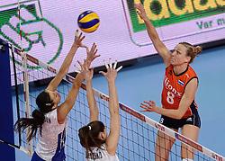 09-01-2016 TUR: European Olympic Qualification Tournament Rusland - Nederland, Ankara<br /> De strijd om Rio of Japan / Judith Pietersen #8