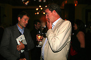 Ben Goldsmith and Jeremy Clarkson, A A Gill party to celebrate the  publication of Table Talk, a collection of his reviews. Hosted by Marco Pierre White at <br />Luciano, 72 St James's Street, London,. 22 October 2007, -DO NOT ARCHIVE-© Copyright Photograph by Dafydd Jones. 248 Clapham Rd. London SW9 0PZ. Tel 0207 820 0771. www.dafjones.com.