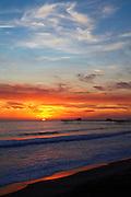 Orange Sky Sunset Over San Clemente Beach