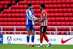 Cian Harries of Bristol Rovers and Jordan Willis of Sunderland shake hands - Mandatory by-line: Robbie Stephenson/JMP - 12/09/2020 - FOOTBALL - Stadium of Light - Sunderland, England - Sunderland v Bristol Rovers - Sky Bet League One