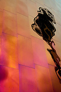 The Seattle Space Needle reflection in the Experience Music Project