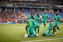June 19, 2018 - Moscou, Rússia - MOSCOU, MO - 19.06.2018: POLAND VS SENEGAL - Senegal's MbayenNiang celebrates after scoring al during Poland-Senegal mat match valid for the first round of Group H of the 2018 World Cup, held at the Otkrytie Arena in Moscow, Russia. (Credit Image: © Marcelo Machado De Melo/Fotoarena via ZUMA Press)