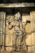 detail of bass relief statue, Borobudur, Borobudur, Kedu Valley, South Central Java, Java, Indonesia, Southeast Asia