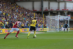 Watford's Almen Abdi runs at goal  - Photo mandatory by-line: Nigel Pitts-Drake/JMP - Tel: Mobile: 07966 386802 25/08/2013 - SPORT - FOOTBALL -Vicarage Road Stadium - Watford -  Watford v Nottingham Forest - Sky Bet Championship