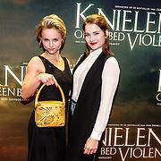 NLD/Amsterdam/20160222 - Premiere Knielen op een Bed Violen, Stijn Franken en Barbara Sloesen