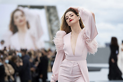 Amber Heard walks the runway during the L'Oreal show as part of Paris Fashion Week Womenswear Spring/Summer 2022 in Paris, France on October 03, 2021. Photo by Aurore Marechal/ABACAPRESS.COM