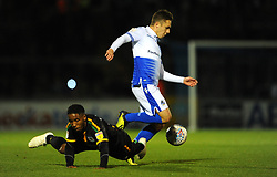 Sam Matthews of Bristol Rovers gets past Rhys Browne of Yeovil Town- Mandatory by-line: Nizaam Jones/JMP - 09/10/2018 - FOOTBALL - Memorial Stadium - <br /> Bristol, England - Bristol Rovers v Yeovil Town - Checkatrade Trophy
