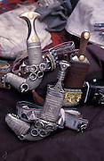 Selling daggers, Najran market