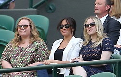 July 4, 2019 - London, United Kingdom - Meghan, Duchess of Sussex (C) attends day 4 of the Wimbledon Championships. (Credit Image: © Andrew Patron/ZUMA Wire)