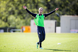 Falkirk's Craig Sibbald. Falkirk FC training at Swansea's training pitches, before next weeks Cup Final.