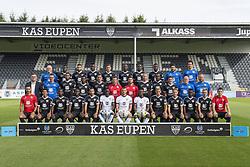 July 11, 2017 - Eupen, Belgique - EUPEN, BELGIUM - JULY 11 : Top: Ghislain Brandt of KAS Eupen, Moussa Wague of KAS Eupen, Fathi Karatas of KAS Eupen, Souleymane Aw of KAS Eupen, Damien Mouchamps of KAS Eupen, Lazare Amani of KAS Eupen, Odeni George of KAS Eupen, Eric Ocansey of KAS Eupen, Xavier Santeugini of KAS Eupen, Maxime Crosset of KAS Eupen. Middle: Michael Radermacher of KAS Eupen, Cyril Vilvoorde of KAS Eupen, Jordan Loties of KAS Eupen, Silas Gnaka of KAS Eupen, Nicolas Verdier of KAS Eupen, Head coach Jordi Condom of KAS Eupen, Manel Exposito of KAS Eupen, Siebe Blondelle of KAS Eupen, Abdelkarim Falalla of KAS Eupen, Alessio Castro Montes of KAS Eupen, Franz Dewint of KAS Eupen and Jens Leys of KAS Eupen. Bottom: Roma Cunillera of KAS Eupen, Carlos Martinez Castro of KAS Eupen, Ibrahim Diallo of KAS Eupen, Moussa Diallo of KAS Eupen, Luis Garcia of KAS Eupen, Babacar Niasse of KAS Eupen, Hendrik Van Crombrugge of KAS Eupen, Abdul Manaf Nuredeen of KAS Eupen, Mickael Tirpan of KAS Eupen, Nils Schouterden of KAS Eupen, Diawandou Diagne of KAS Eupen, Martin Schillings of KAS Eupen and Xavier Ruiz of KAS Eupen during the official team picture on July 11, 2017 in Eupen, Belgium , 11/07/2017 (Credit Image: © Panoramic via ZUMA Press)