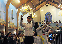 After a moving Holy Saturday candlelight vigil, young people perform a ritual dance at Christ the King in Salinas.