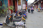 Street view of the Old city of Dali, Yunnan, China