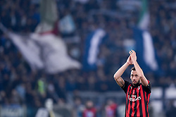 February 26, 2019 - Rome, Rome, Italy - Hakan Calhanoglu of Milan greets his supporters during the Italian Tim Cup Semi-Final match between Lazio and AC Milan at Stadio Olimpico, Rome, Italy on 26 February 2019. (Credit Image: © Giuseppe Maffia/NurPhoto via ZUMA Press)