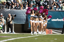 Philadelphia Eagles Cheerleaders perform during the NFL game between the Detroit Lions and the Philadelphia Eagles on Sunday, October 14th 2012 in Philadelphia. The Lions won 26-23 in Overtime. (Photo by Brian Garfinkel)