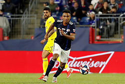 May 15, 2019 - Foxborough, MA, U.S. - FOXBOROUGH, MA - MAY 15: New England Revolution forward Juan Agudelo (17) turns up field during the Final Whistle on Hate match between the New England Revolution and Chelsea Football Club on May 15, 2019, at Gillette Stadium in Foxborough, Massachusetts. (Photo by Fred Kfoury III/Icon Sportswire) (Credit Image: © Fred Kfoury Iii/Icon SMI via ZUMA Press)