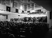 State Opening Of The National Concert Hall. (N92)..1981..09.09.1981..9th September 1981..The President ,Dr Patrick Hillery, officially opened the new National Concert Hall,Earlsfort Terrace, Dublin. The state opening was followed by the premier concert performed by the Radio Telefís Eireann Symphony Orchestra with a large cast of soloists, choirs and the RTESO leader Audrey Park and conducted by RTE's Principal conductor Colman Pearce...President Hillery is pictured giving the speech officially opening the National Concert Hall.