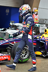19.04.2014, International Circuit, Shanghai, CHN, FIA, Formel 1, Grand Prix von China, Qualifying Tag, im Bild Sebastian Vettel (GER) Red Bull Racing in parc ferme. // during the Qualifyingday of Chinese Formula One Grand Prix at the International Circuit in Shanghai, China on 2014/04/19. EXPA Pictures © 2014, PhotoCredit: EXPA/ Sutton Images<br /> <br /> *****ATTENTION - for AUT, SLO, CRO, SRB, BIH, MAZ only*****