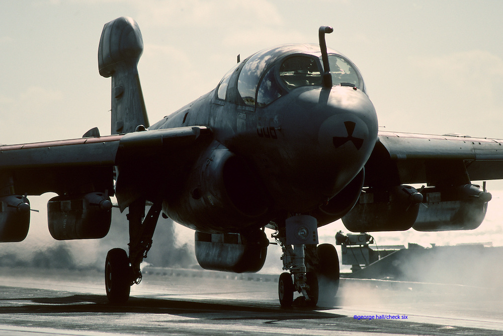 EA-6B Prowler on carrier ceck