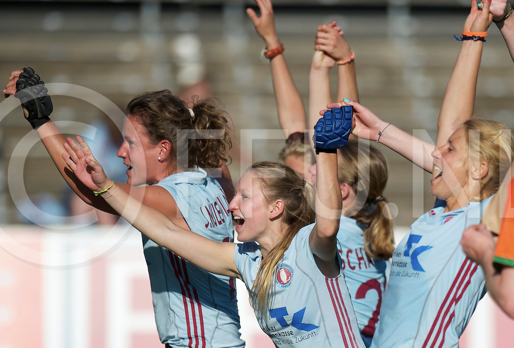 Amstelveen - Eurohockey Club Champions Cup<br /> Club de Campo - UHC Hamburg<br /> foto: party for uhc.<br /> FFU PRESS AGENCY COPYRIGHT FRANK UIJLENBROEK