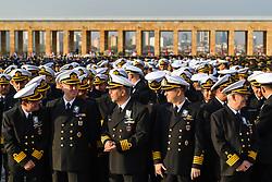 November 10, 2018 - Ankara, Turkey - Ceremony at the mausoleum of Mustafa Kemal Ataturk, the founder of modern Turkey, to commemorate his 80th death anniversary in Ankara, Turkey, Nov. 10, 2018. (Credit Image: © Depo Photos via ZUMA Wire)