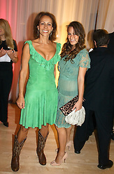 Left to right, ANDREA DELLAL annnd her daughter CHARLOTTE DELLAL at a party at The Sanderson Hotel, Bernnnnners Street, London in aid of Sargent Cancer Care for Children on 7th July 2004.