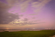 The soft glow of the northern lights at Paine's Creek Beach in Brewster.