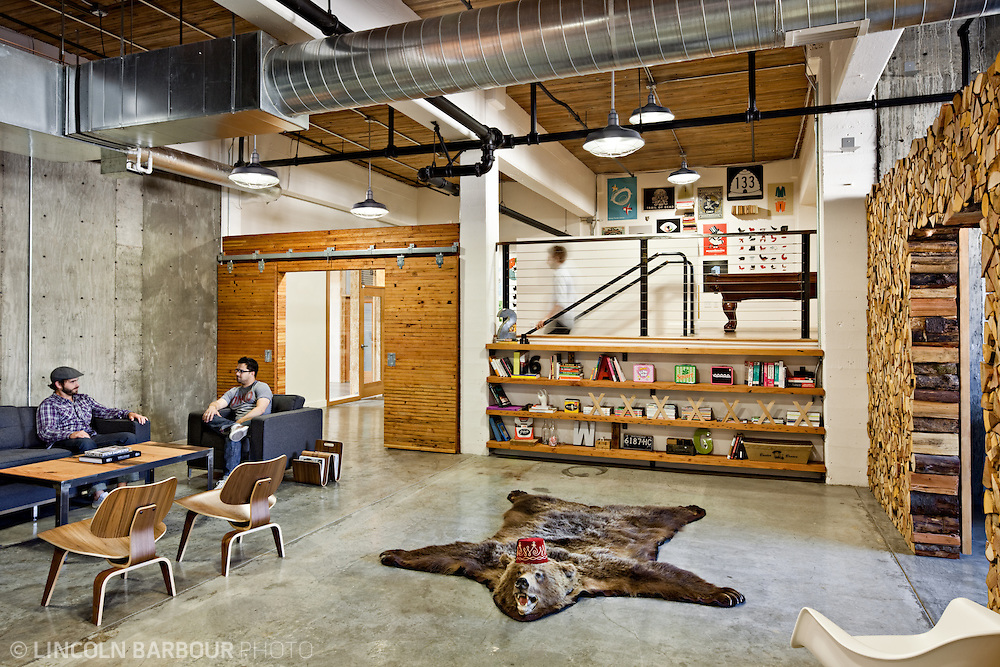 Design firm Parliament's office in Portland, OR designed by owner Chris Erickson.