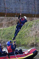 March 14, 2018 - Rendeux, Belgique - Kenny Saief forward of RSC Anderlecht - illustration rafting  pictured during the team building of Rsc Anderlecht in Rendeux , Belgium. ***RENDEUX, BELGIUM - March 14, 2018 EXCLUSIF (Credit Image: © Panoramic via ZUMA Press)