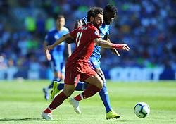 Bruno Ecuele Manga of Cardiff City competes with Mohamed Salah of Liverpool- Mandatory by-line: Nizaam Jones/JMP - 21/04/2019 -  FOOTBALL - Cardiff City Stadium - Cardiff, Wales -  Cardiff City v Liverpool - Premier League