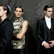 Milan, Italy, June 23rd, 2012. Carlo Pignatelli backstage at Milan Men's Fashion Week. Reportage for Cosmopolitan Germany.