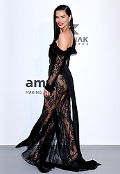Adriana Lima attending the 26th amfAR Gala held at Hotel du Cap-Eden-Roc during the 72nd Cannes Film Festival. Picture credit should read: Doug Peters/EMPICS