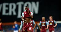 Football - 2019 / 2020 Premier League - Everton vs Aston Villa<br /> <br /> Keinan Davis of Aston Villa dejected at Goodison Park<br /> <br /> COLORSPORT/LYNNE CAMERON