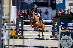 Delmotte Nicolas, FRA, Urvoso du Roch<br /> European Championship Jumping<br /> Rotterdam 2019<br /> © Hippo Foto - Dirk Caremans