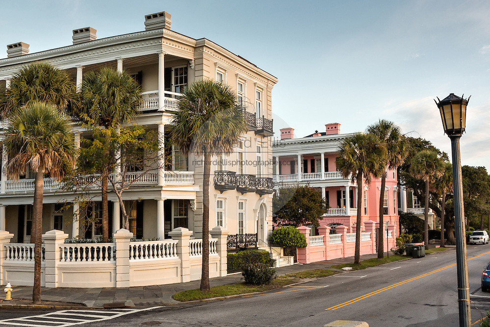 Homes along the Battery in historic Charleston, SC.