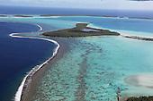 French Polynesia Tetiaroa Aerial views