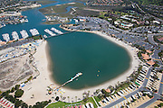 Aerial Stock Photo of Newport Dunes RV Resort in Newport Beach California